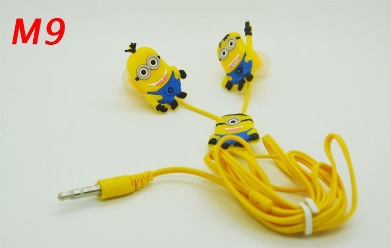Cool Top cartoon earphone minions Despicable Me superman in-ear headset 3.5mm jake stereo headphones for iphone 5 5s 6 Samsung