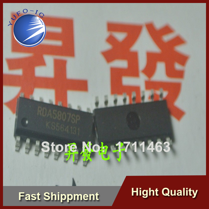 Free Shipping 20PCS RDA5807SP RDA5807 new stereo FM radio module / IC YF0913(China (Mainland))