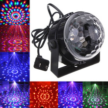 Voice Control RGB LED Stage Lamps Crystal Magic Ball Sound Laser Projector Effect Light Party Disco Club DJ - Fancy Lighting store