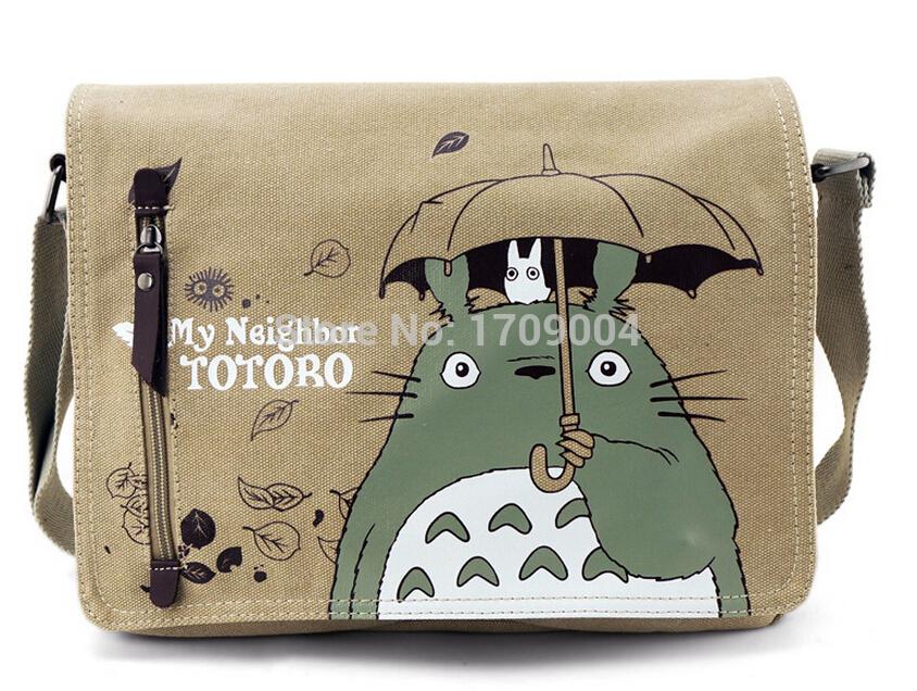 Free Shipping Anime Manga My Neighbor TOTORO Messenger Bag 31*26*7cm Women Men Bag 002(China (Mainland))