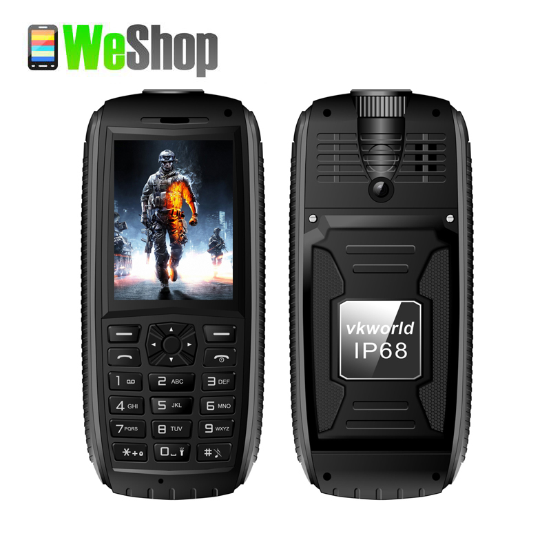 2016 Vkworld Stone V3 MAX Mobile Phone IP68 Water Proof low temperature 5300mAh Long Standby 2.4 inch GSM Dual SIM Cellphone(China (Mainland))