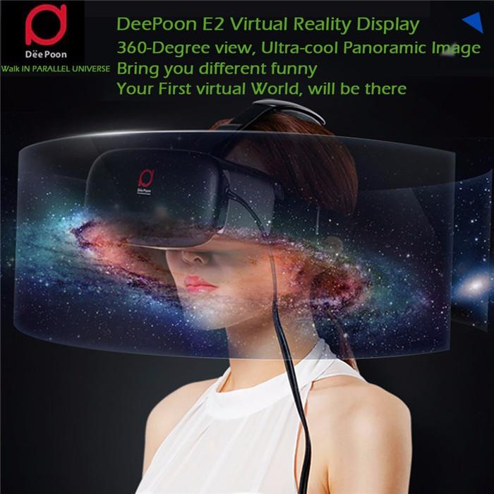 ถูก DeePoon E2ความจริงเสมือนแว่นตา3D VRทั้งหมดในหนึ่งAMOLEDหน้าจอ2กรัม/8กิกะไบต์75เฮิร์ตAPIเกมHDMI Otca-Core WiFi V4.0 vrกล่อง