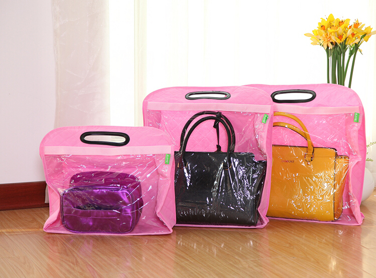 Non-woven Handbag Dust Proof Covers Wardrobe Wall Hanging Bags Storage Covers Dust Proof Bags(China (Mainland))