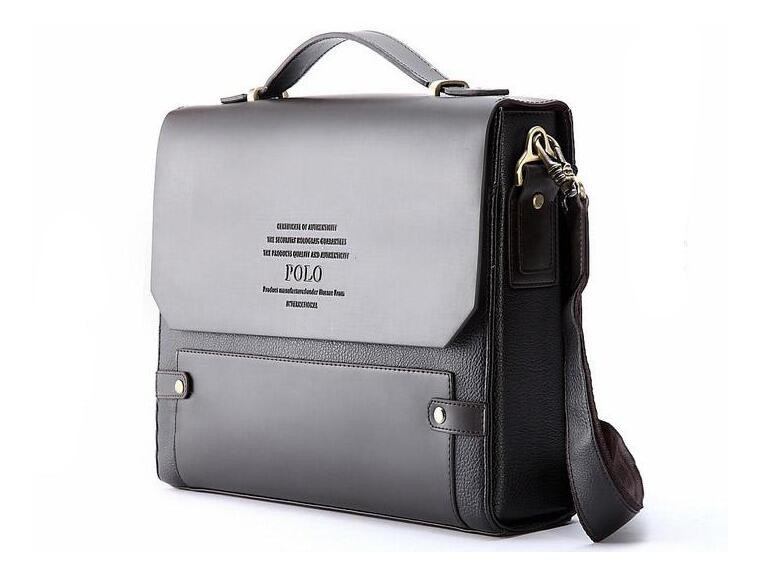 Man Business Briefcase Bag High Quality Leather Men Briefcases Office Work Bags Famous Brand Large Size Bag 39503A