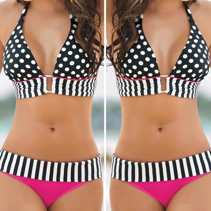 Free-Shipping-2015-hot-sale-Sexy-Women-Swimwear-Bikini-Set-Bandeau-Push-Up-Padded-Bra-Swimsuit (2)