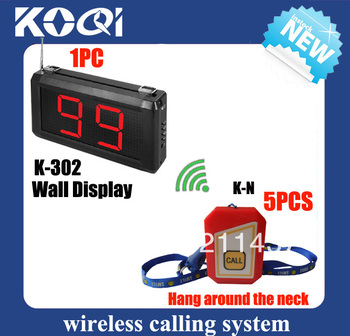 Nurse call system push button K-302 display for nurse call station and K-N buzzer 12v can be hung around the neck DHL freeship