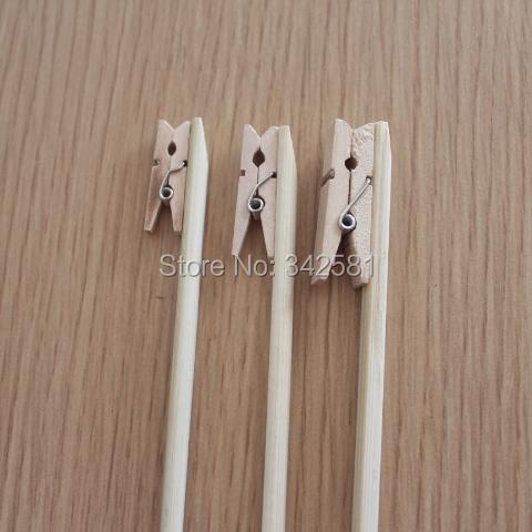 Acheter 12x minuscules pinces linge supports pour de num ro de table buffet de - Pince a linge mariage ...