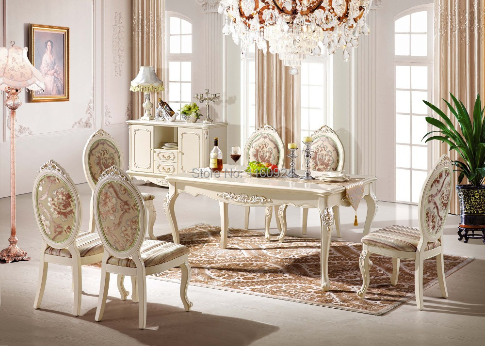High-grade Dining Room Furniture : 1 Long Dining Table and 6 Dining Chairs(China (Mainland))