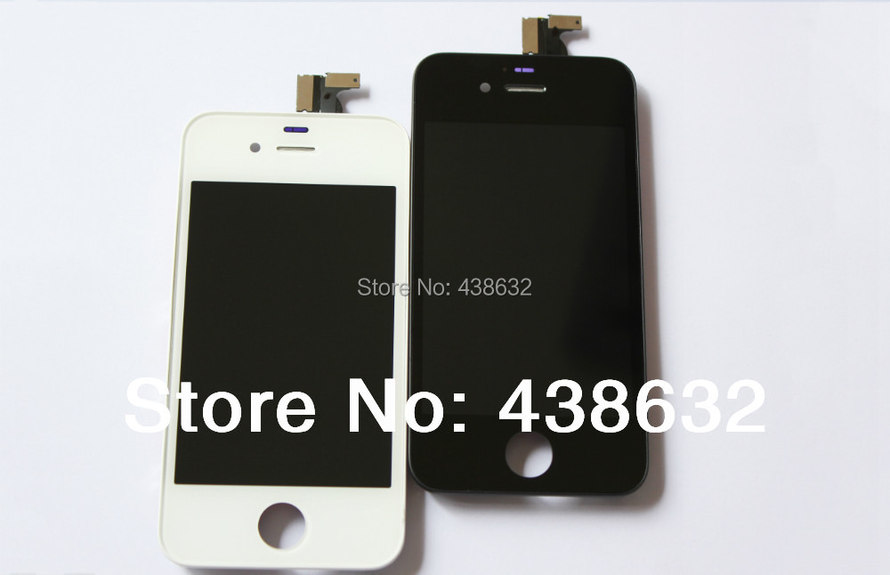 20pcs/lot,Brand New Best Quality A LCD+Touch Screen Digitizer+Frame For iPhone 4 4S Screen Repalcement ,No Dead Pixel,Free DHL(China (Mainland))