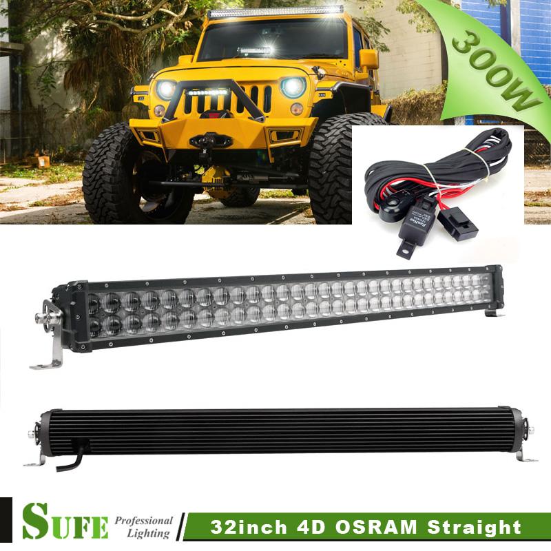 32 300w Off Road 4-DimT LED Light Bar SAE High Beam Pattern 18000LM 12V for Truck SUV ATV 4WD Pickup Car Bar Light 24V IP68<br><br>Aliexpress