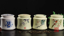 New 2015 large porcelain candy jar on-glazed bone china storage ceramics 10.5*10.5cm tea caddy tea&coffee tools storage cans