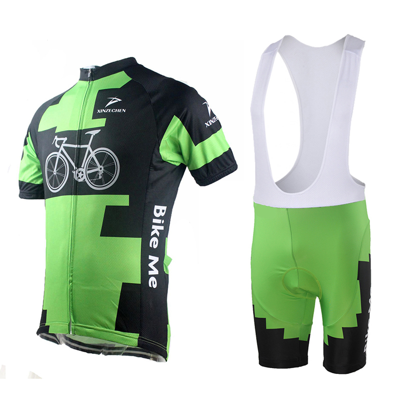 new arrival cycling team clothing jersey short sleeve only bike (bib) shorts / pants only or sets green bike style 2015 summer