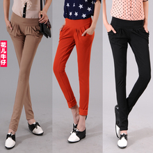 2013 free ship Spring and summer 2013 slim women's elastic harem pants casual long trousers all-match plus size(China (Mainland))