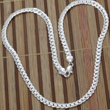 N130 fashion jewelry silver Necklace 925 silver chains pendants 5M side 20inch /jzda sqma(China (Mainland))