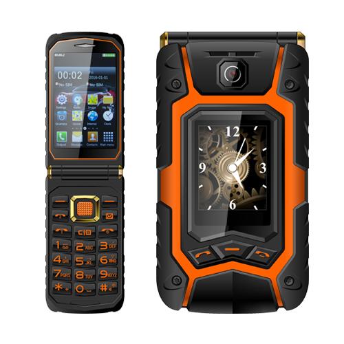 Dual Screen Mobile Phone Rover X9 Flip Style Keyboard Senior Phone GSM Quad Band Dual Sim Card 1500mAh Bluetooth(China (Mainland))