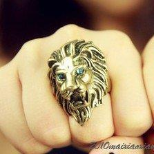 Free shipping,R067 ,Vintage big metal lion head punk alloy finger ring,fashion jewelry(China (Mainland))