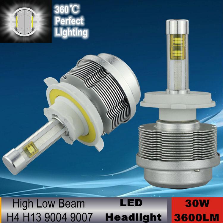 3600LM 30w cree ETI Chips H4 led headlight lamp Hi/Lo auto H13 led car headlight bulbs HB1 9004 HB5 9007 led headlight bulb(China (Mainland))