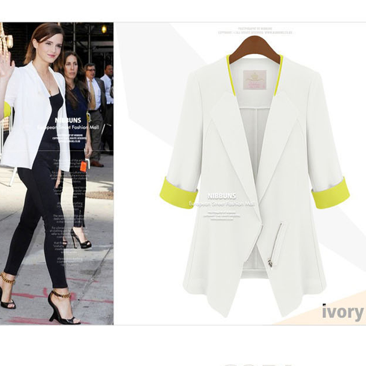 2014 spring fashion blazer slim coat women's medium-long 7 - bingwen chen's store