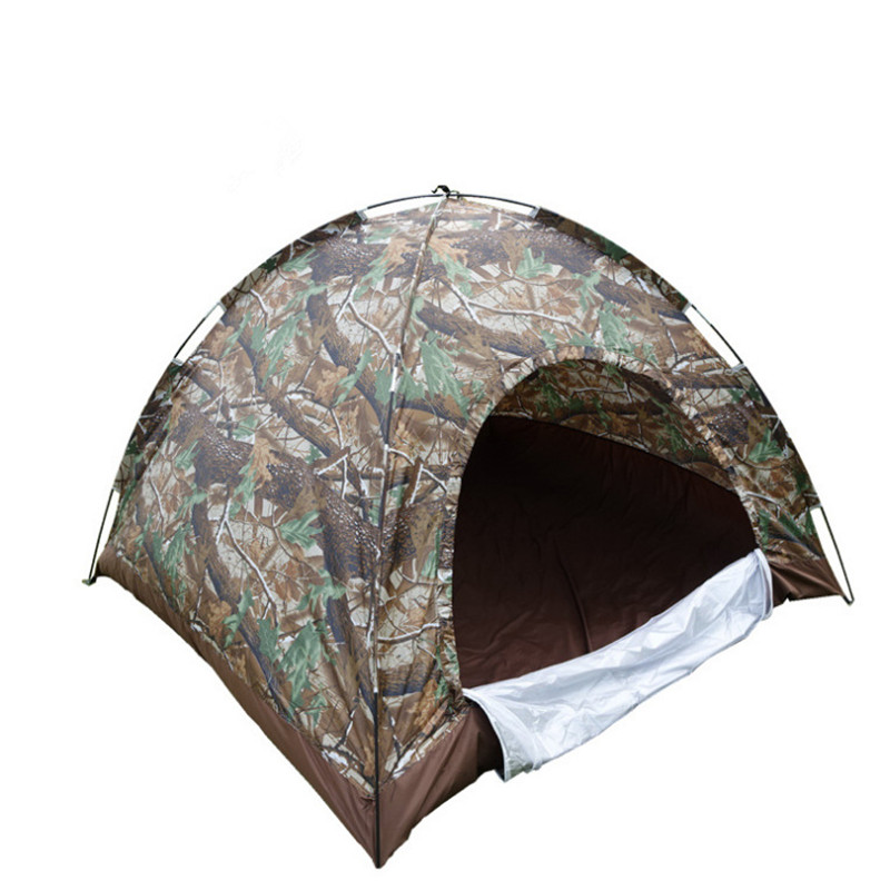 Outdoor Travel Camping Couple 3-4 People Fashion Camouflage Wind Waterproof UV Fiberglass Rod Mountaineering Tent<br><br>Aliexpress