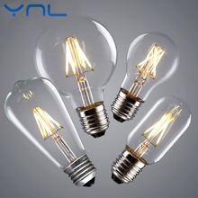 Buy YNL Vintage LED Edison Bulb E27 E14 Real watt 2W 4W 6W 8W LED Filament Light Vintage LED Bulb Lamp 220V Retro Candle Light for $1.17 in AliExpress store
