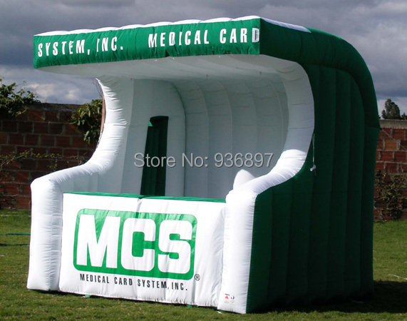 Free shipping inflatable counter bar inflatable booth advertising tent(China (Mainland))