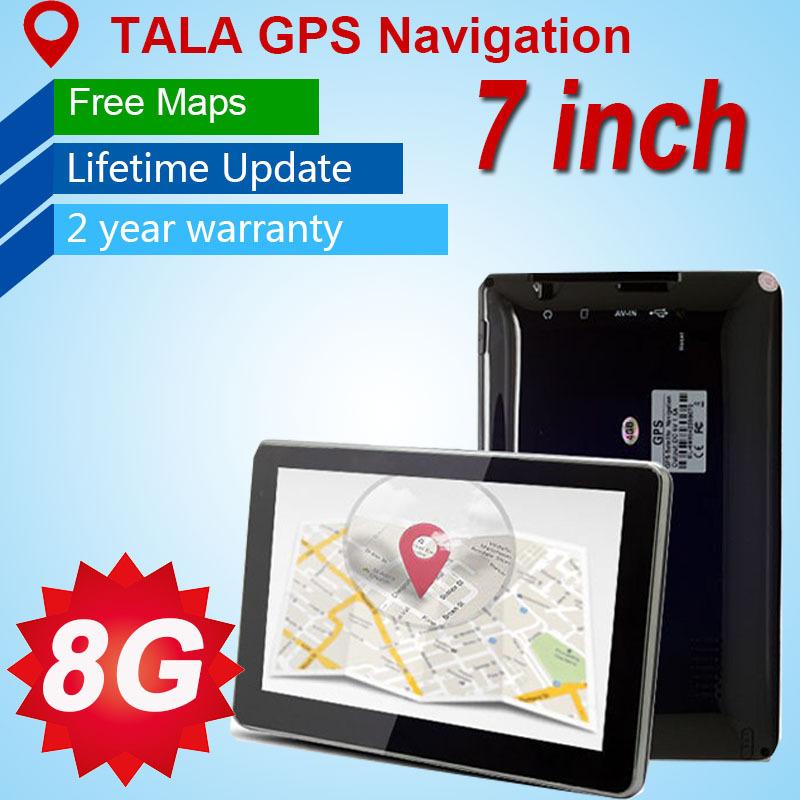 7 inch 2015 original car gps navigation HD 800x480 8G /DDR128M/ gps Russia,Europe,USA+Canada, 2015 Map car gps navigator(China (Mainland))