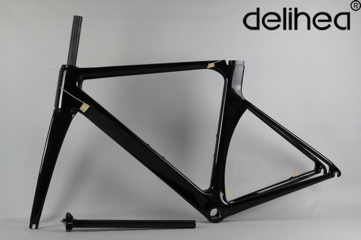 Delihea company new paint new road bike carbon frame carbon road frame cabon bicycle frame complete carbon road bike china(China (Mainland))
