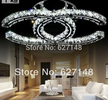 2014 top sales C style LED crystal light fixtures, modern home ceiling light L600*w400mm guarantee 100%(China (Mainland))