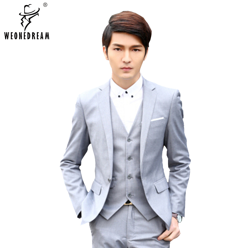(Jacket+Pant) Men Suits 2016 New Men Fashion Brand Slim Fit Suits Man Suits with Pants Tuxedos for Men Blue Black Red Suits Plus(China (Mainland))