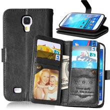 S4 Multi-function Wallet Case For Samsung Galaxy S4 I9500 Case Luxury PU Leather Flip Cover For Pouch Samsung S4 Coque 9 Cards(China (Mainland))