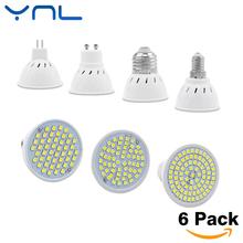 Buy YNL 6pcs/lot Lampada LED Bulb GU10 E27 E14 MR16 3W 5W 7W 220V 240V Bombillas LED Lamp SMD 2835 48LED 60LED 80LED Spotlight for $7.10 in AliExpress store