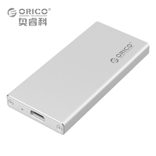 ORICO MSA-UC3 Aluminum Type-C to mSATA 3.0/2.0 Portable Mobile HDD Enclosure Box Case USB3.1 for 1.8  inch SSD - Silver(China (Mainland))