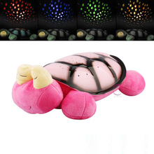 New music snail lamp tortoise lamp The starry sky projection sleep Sea turtles Projector night light children Gifts(China (Mainland))