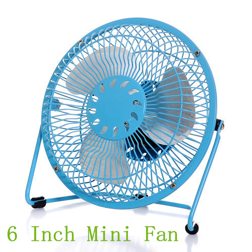 Mini Portable USB Cooler Cooling Fan 6 inch Full metal aluminum blades computer Gadgets mini silent small fan 4colors - Guangdong foreign trade co., LTD store