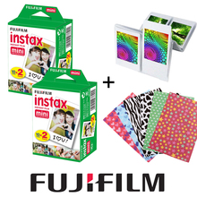 Fujifilm Instax Mini White Film 40PCS Instant Photo Paper + Free Gift 20pcs Stickers & 1 Wall Album For Fuji Mini 8 7s 25 50s 90(Hong Kong)
