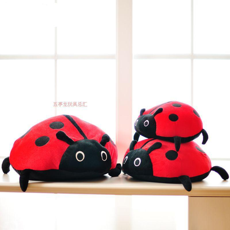 stuffed animal plush 45x45cm insect spot ladybird plush toy soft doll coccinella throw pillow gift t6179<br><br>Aliexpress