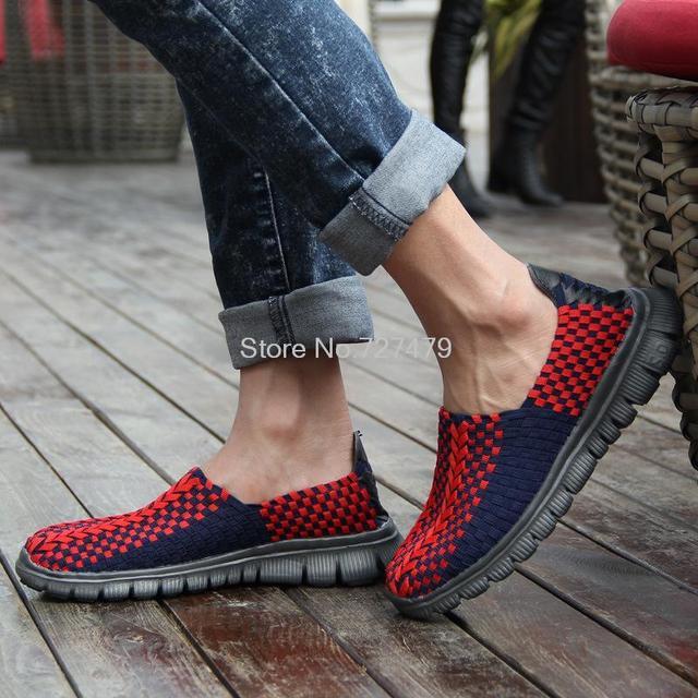 Горячие Продажи моды цвет заклинание ступит ленивый обувь дышащие и удобные мужчины ...