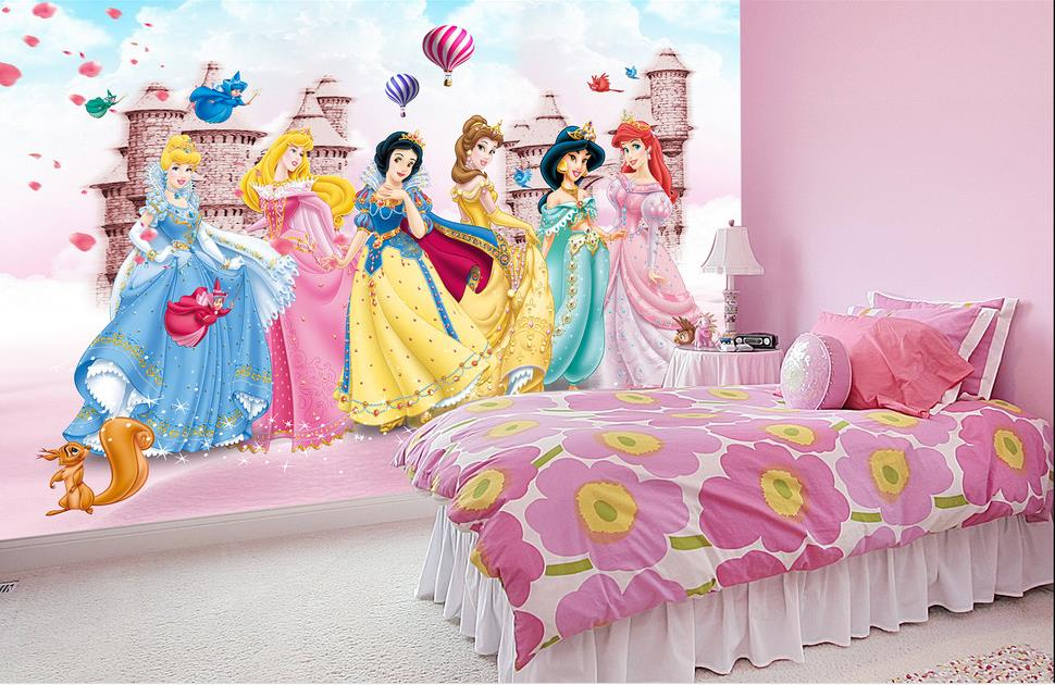 Online buy wholesale barbie wall mural from china barbie for Barbie wall mural
