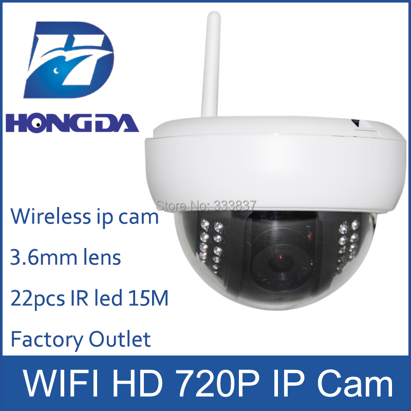 HD 720P Wireless IP camera WIFI indoor wide angle 3.6mm lens night vision 15M Megapixel Home Security Dome IP Cam Easy install(China (Mainland))