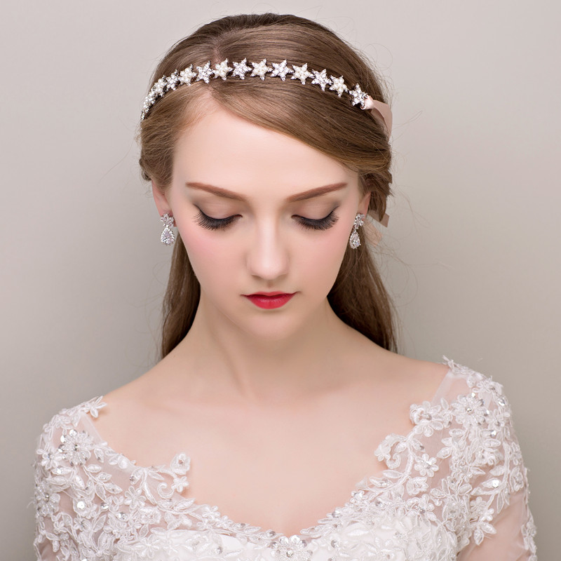 Tiara Noiva Quinceanera Tiaras And Crowns Wedding Headband Pearl Hair Jewelry