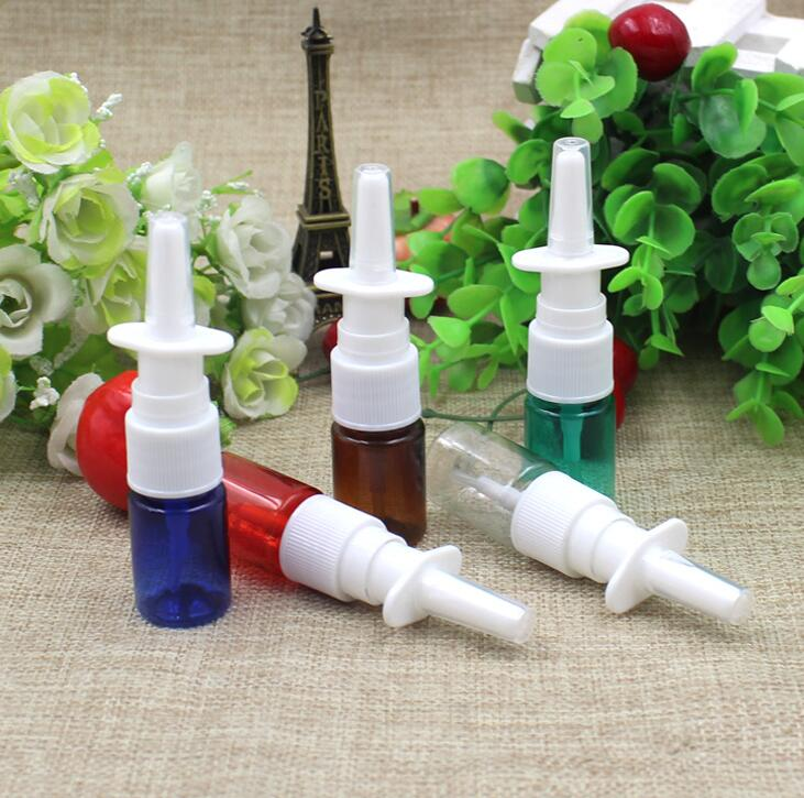 5ML PET Plastic Refillable Empty Sample Bottles Green Blue Brown Clear Red Bottles Pump Spray Applicator Container Bottles(China (Mainland))