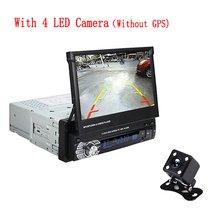 """Podofo 1 din 7 """"ユニバーサルカーラジオ GPS ナビゲーション Autoradio Bluetooth 格納式タッチスクリーン MP5 ステレオオーディ(China)"""