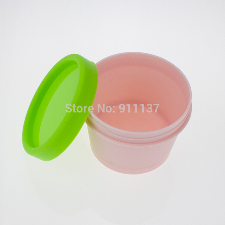 cheap round pp empty large plastic jars for cream , cosmetic 100 ml plastic jar , frost pp cosmetic 100 ml jar(China (Mainland))
