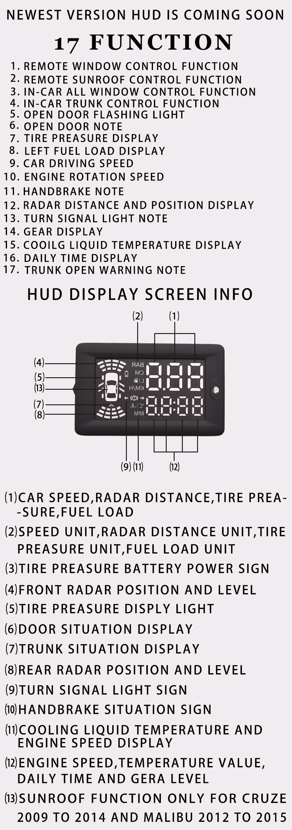 KUST NEWEST Car HUD Head Up Display For Chevrolet HUD For Cruze HUD OBD2 Display For CRUZE 2009 To 2014 For Malibu 2012 To 2015