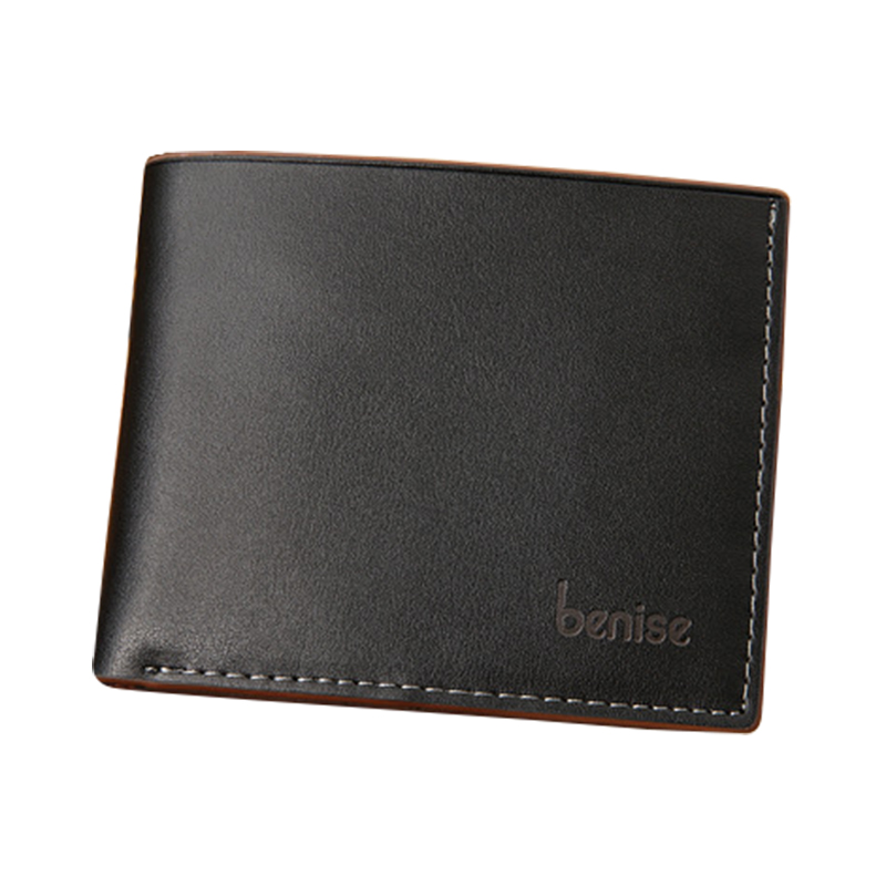 Genuine leather men wallet quality guarantee mens purse real leather luxury famous brand black business style waterproof wallets(China (Mainland))