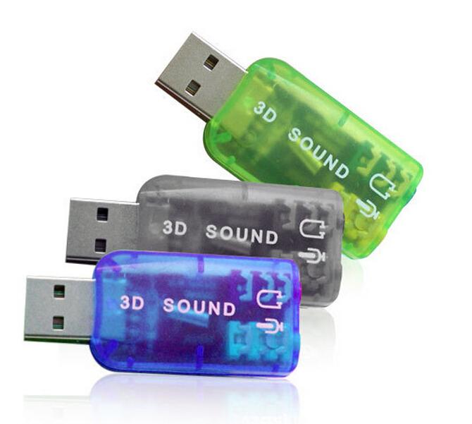 3 5mm to Usb sound card adapter Audio 5 1 Tarjeta de sonido externo Tarjeta sonido