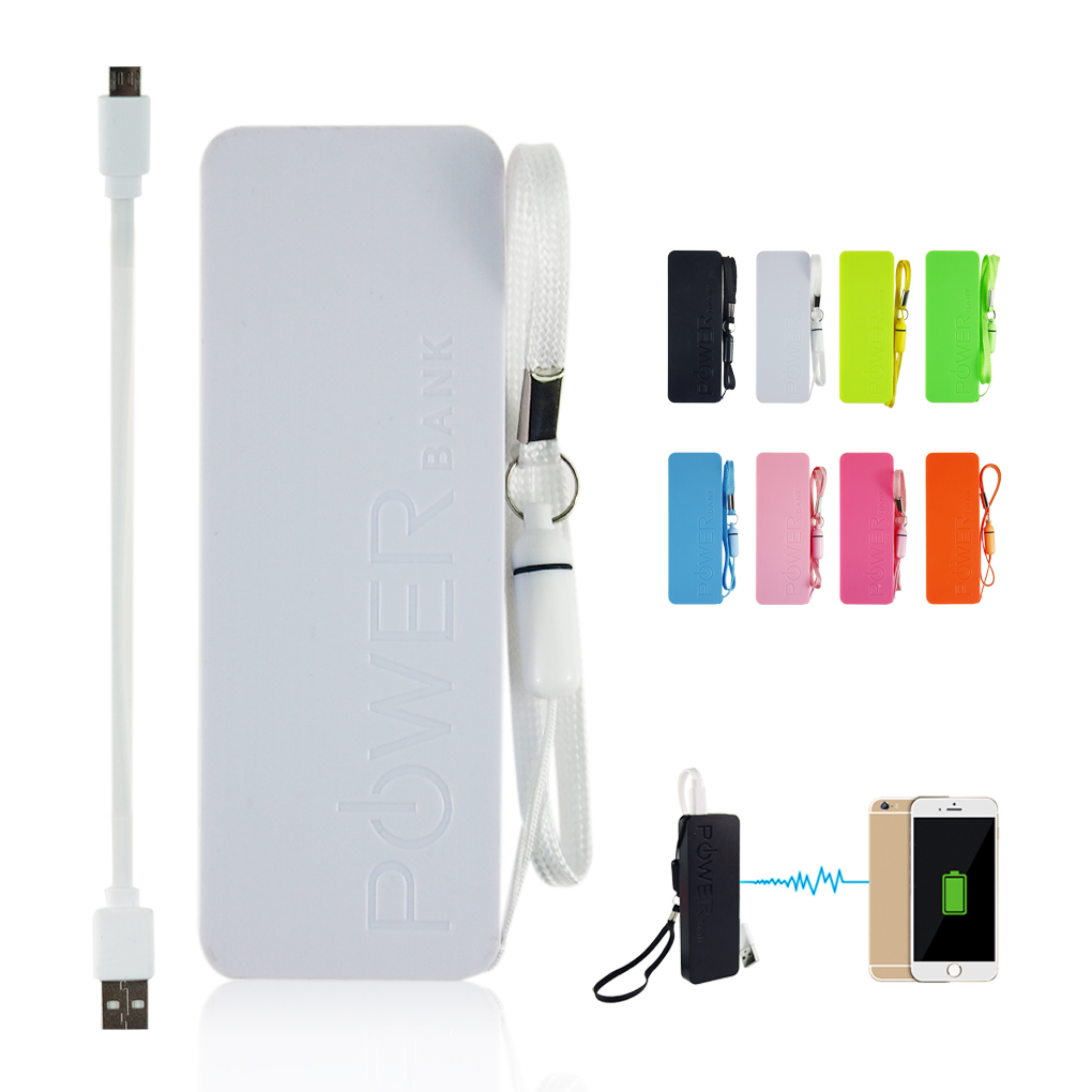 High Quality Ultra-thin 5600mAh Vivid colors mobile USB power bank general charger external backup battery pack