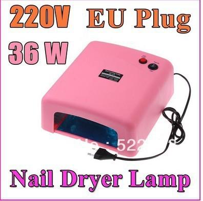 Free Shipping 36W UV GEL NAIL ART CURING LAMP DRYER NAIL CARE 4 x 9W BULB Light Salon Nail Art DIY Nail phototherapy machine