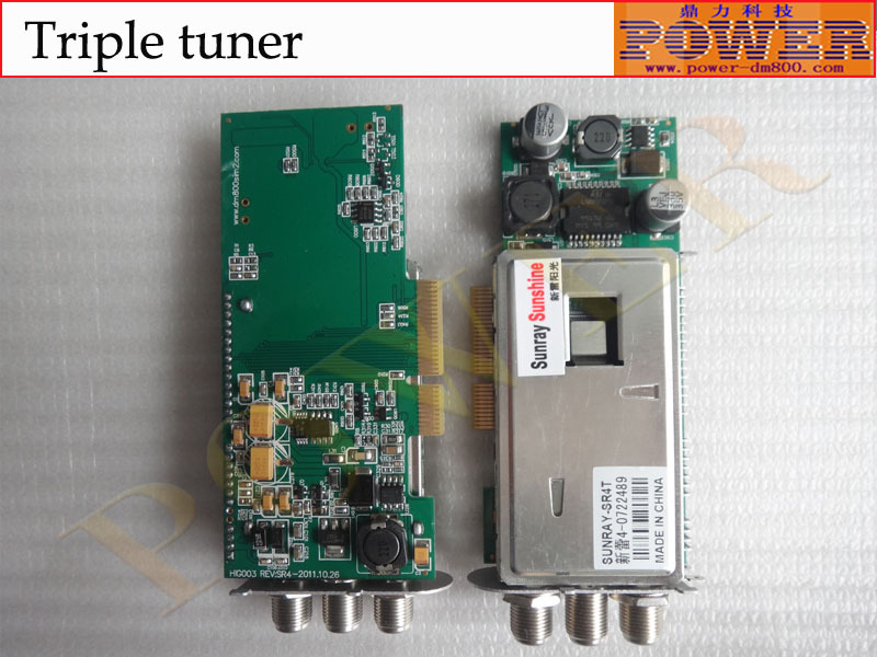 Good quality DVB-S/T/C Triple tuner,which can be used for Sunray4 HD se or 800se satellite reciever(Hong Kong)