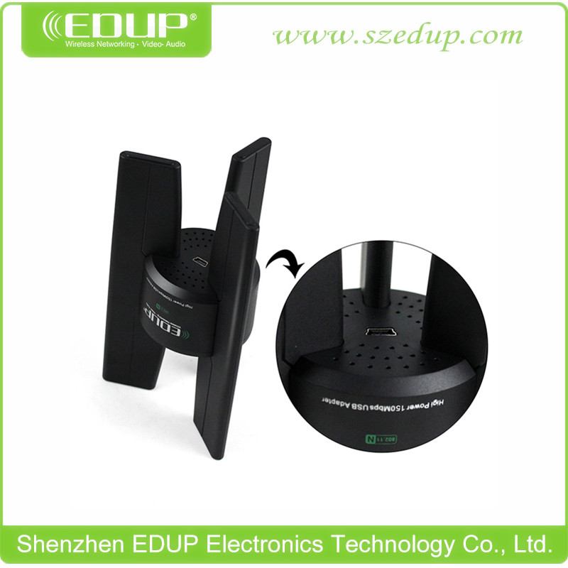 EDUP EP-N8535 802.11N 150Mbps High Power Wireless Network Card Wireless USB WiFi Adapter WiFi Antenna Lan Card(China (Mainland))